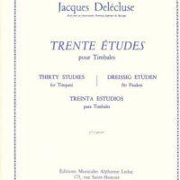 Delecluse_Jacques_30_Etudes_Vol_2_pour_timbales